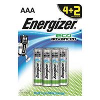 Energizer EcoAdv AAA Batteries E92 4+ 2