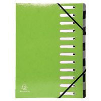 Exacompta Iderama 12Pt File Lime 53923E