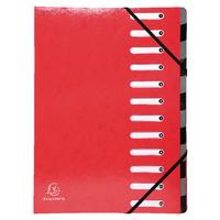 Exacompta Iderama 12-Prt File Red 53925E