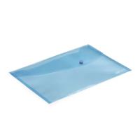 Rapesco Pastel Blue Popper Wallet Pk5