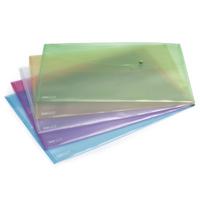 Rapesco A3 Assorted Popper Wallet Pk5