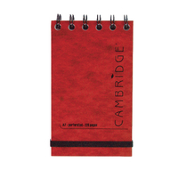 Cambridge Red 76x127 Elast Notebook Pk10
