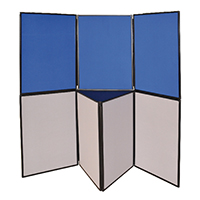 Q-Connect 6 Panel Blu/Grey Display Board