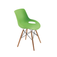 Jemini Green 4 Leg Wire Breakout Chair