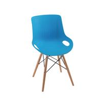 Jemini Blue 4 Leg Wire Breakout Chair