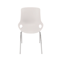 Jemini White 4 Chrome Leg Breakout Chair
