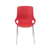 Jemini Red/Chrome 4 Leg Breakout Chair