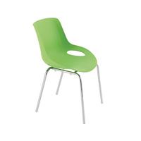 Jemini Green 4 Chrome Leg Breakout Chair