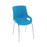 Jemini Blue/Chrome 4 Leg Breakout Chair