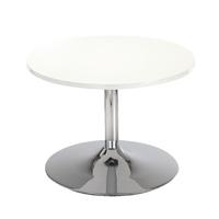 Arista White Low Bistro Table/Trmpt Base