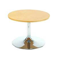 Arista Beech Low Bistro Table/Trmpt Base