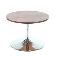 Arista Walnut Low Bistro Table Trmpt Bse