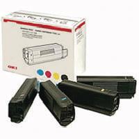 Original Oki C9600 & C9800 Series Rainbow Pack of Toners