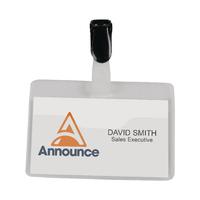 Security Name Badge 60x90mm 8009220 Pk25