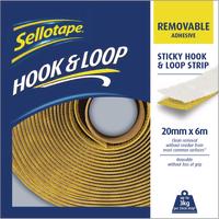 Sellotape Hook/Loop Strip Removable 20mm