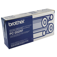 Original Brother Thermal Fax Ribbon Twin Pack, PC202