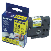 Original Brother PTouch Tape Yellow on Black TZ641