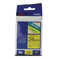 Original Brother PTouch Tape Black on Yellow TZ651