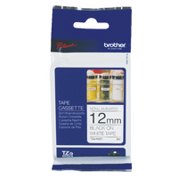 Original Brother PTouch Tape Black on White TZN231